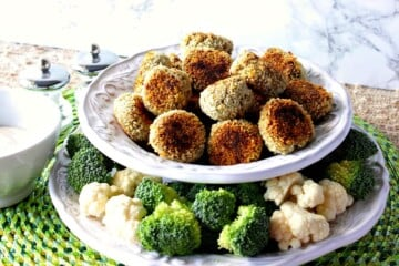 Crunchy Creamy Broccoli Cauliflower Vegetable Tots