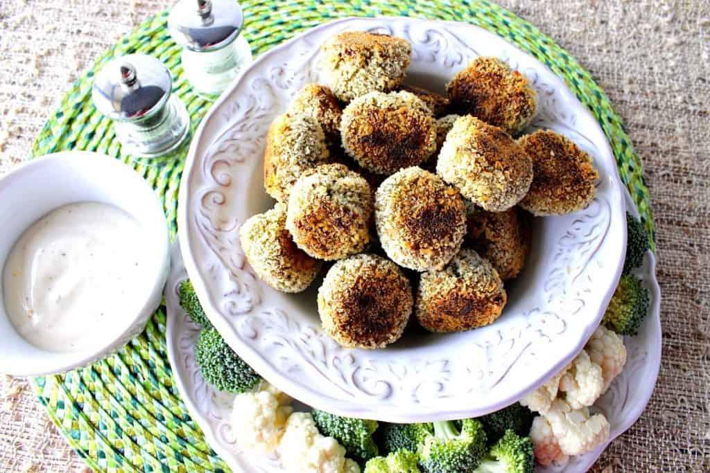 Creamy Crunchy Broccoli Cauliflower Vegetable Tots | Kudos Kitchen by Renee