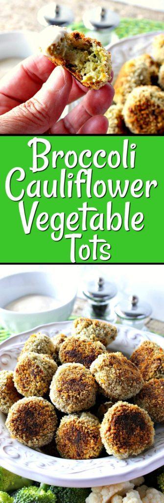 Crunchy Creamy Broccoli Cauliflower Vegetable Tots | Kudos Kitchen by Renee