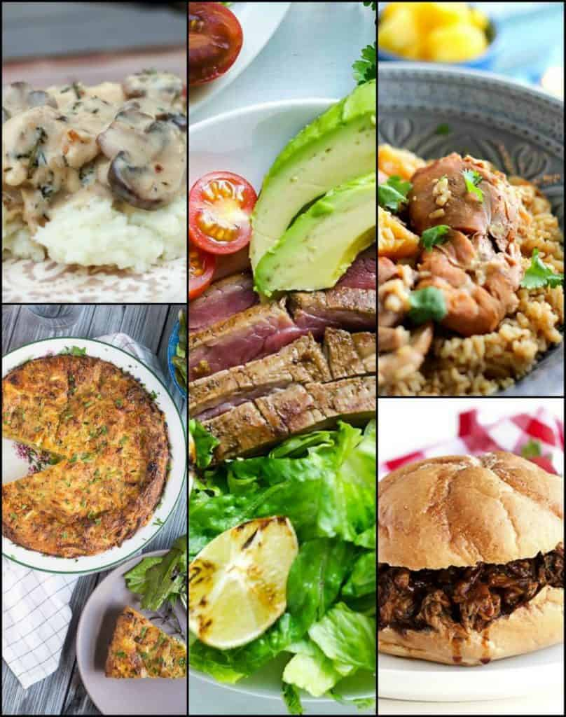 Thrive At Five Weekly Meal Planning August