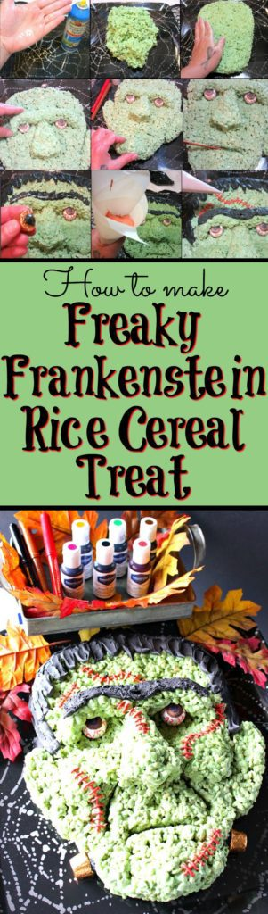 If you're intimidated or scared by the looks of this Frankenstein rice cereal Halloween treat because you think you wouldn't have success making him yourself, I'm here to prove you wrong! - Kudos Kitchen by Renee