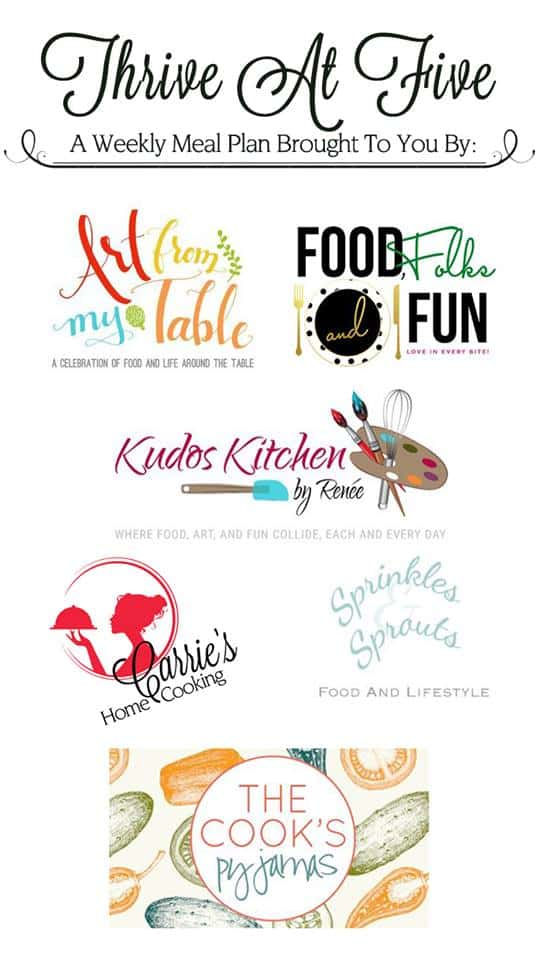 Thrive at Five Food Blogger Logo Collage
