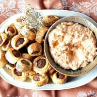 Bratwurst Bites with Sauerkraut Dipping Sauce