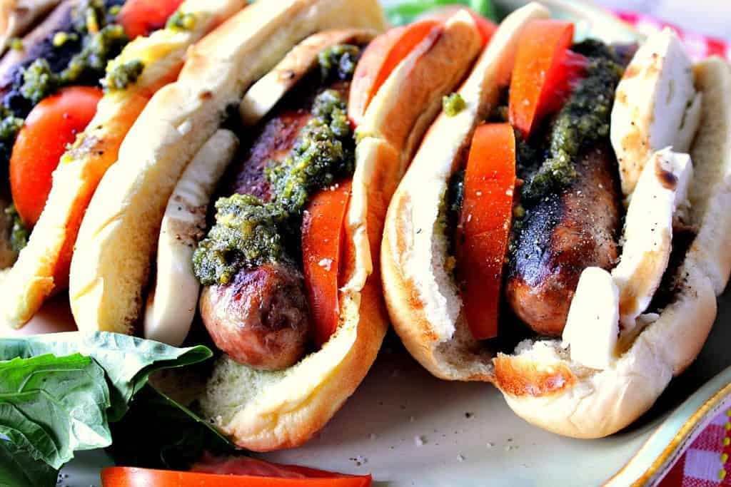 Easy Italian Sausage Caprese Sandwich | Kudos Kitchen by Renee