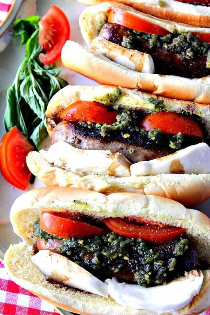 Easy Italian Caprese Sausage Sandwich | Kudos Kitchen by Renee