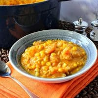 Seasonally Delicious Creamy Pumpkin Corn Chowder with Shrimp