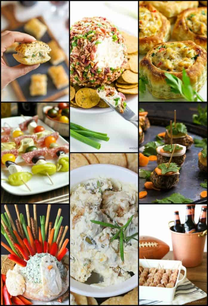Thanksgiving Appetizer Roundup Opening Image Collage Friday's Featured Foodie Feastings