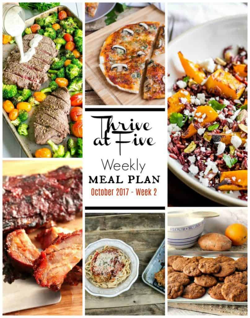 Weekly Meal Planning Collage October Week two