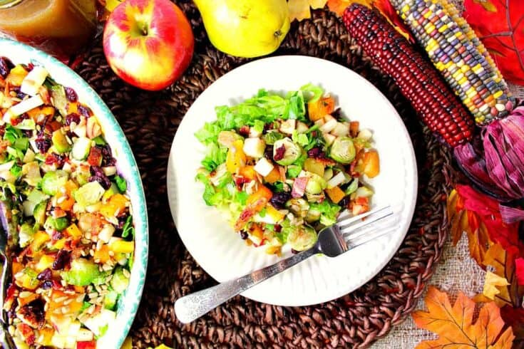 Autumn Harvest Chopped Fruit & Vegetable Salad with Butternut Squash and Bacon