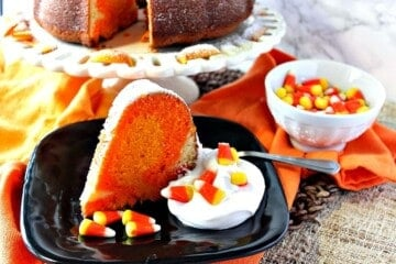 Candy Corn Colored Citrus Pound Cake