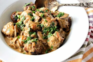 Hearty German Meatballs with Caraway Mushroom Cream Sauce