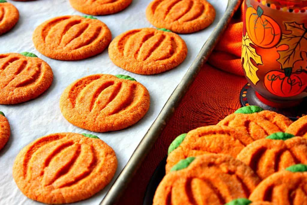 Pumpkin Shaped Sugar Cookies For Thanksgiving | Kudos Kitchen by Renee
