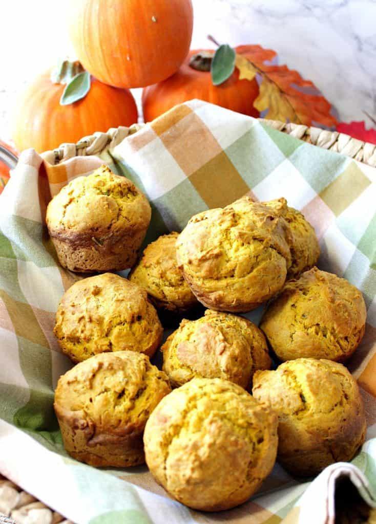 Savory Seasonal Pumpkin Sage Biscuits Recipe | Kudos Kitchen by Renee