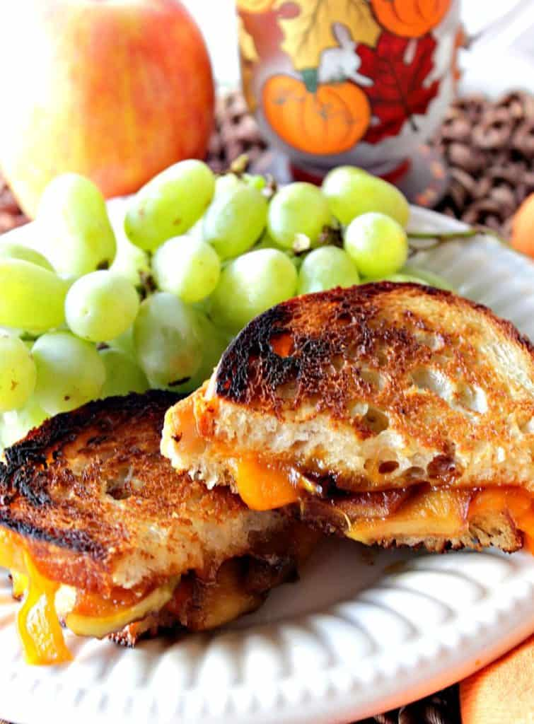 Grilled Cheddar Cheese Sandwich with Caramelized Apple | Kudos Kitchen by Renee
