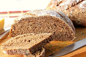 Crusty Rustic Old World Onion Rye Bread with Dill