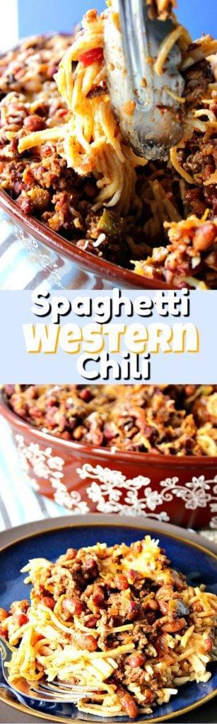 Make Ahead Spaghetti Western Chili Casserole | Kudos Kitchen by Renee