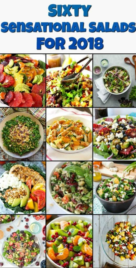 Sensational Salad Roundup for 2018 Opening Collage - Kudos Kitchen by Renee