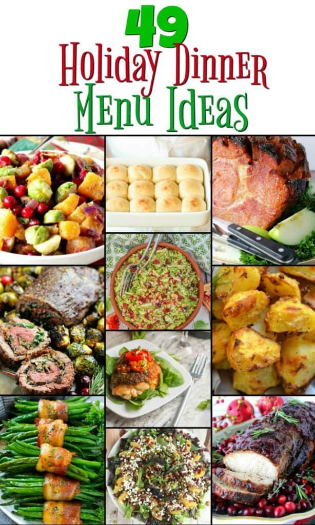 Holiday Dinner Menu Recipe Roundup Collage 2017 | Kudos Kitchen by Renee