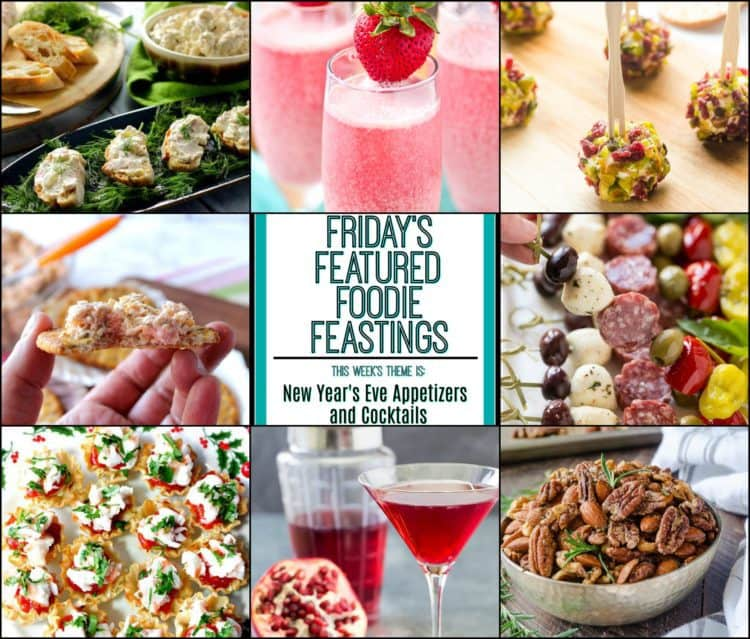 New Year's Eve Appetizer & Cocktail Recipe Roundup 2017 Featured Image Collage