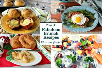 Title text collage image of brunch recipes for a recipe roundup