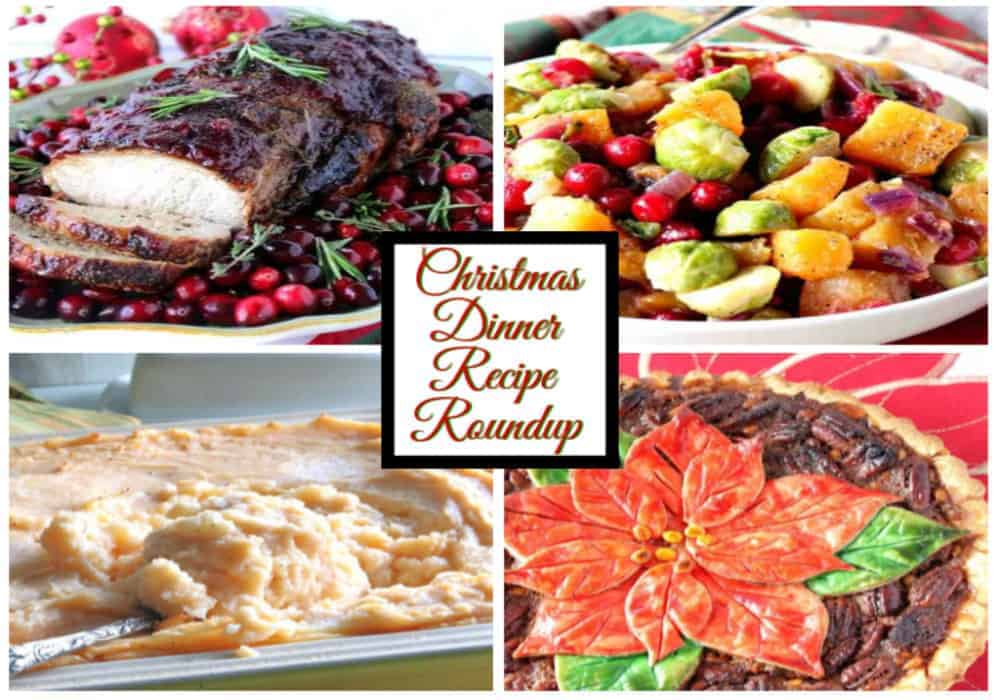 Horizontal Featured Image Collage for Christmas Dinner Recipe Roundup