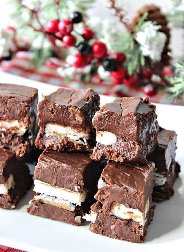 Creamy Chocolate Espresso Peppermint Fudge | Kudos Kitchen by Renee