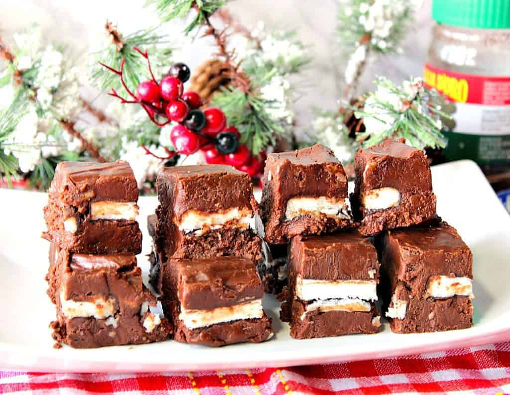 Creamy Chocolate Espresso Peppermint Fudge Recipe | Kudos Kitchen by Renee