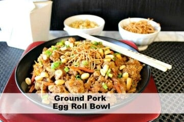 Tasty Chinese Ground Pork Egg Roll Bowl Kudos Kitchen Style