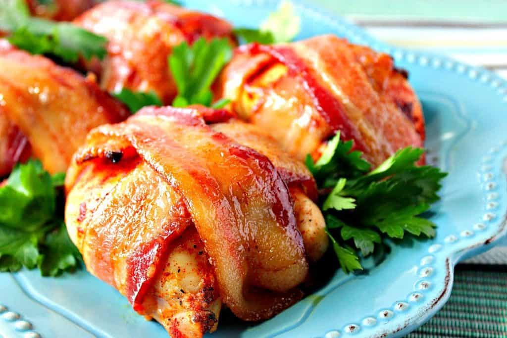 Smoky Sweet Bacon Wrapped Chicken Breasts | Kudos Kitchen by Renee