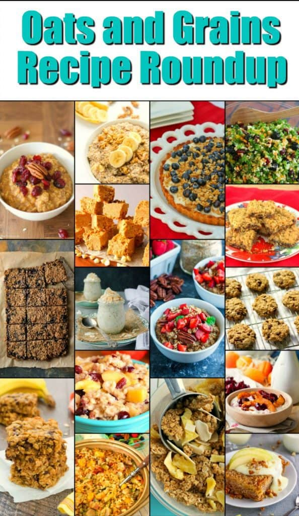 Oats & Grains Recipe Roundup 2018 for Friday's Featured Foodie Feastings | Kudos Kitchen by Renee