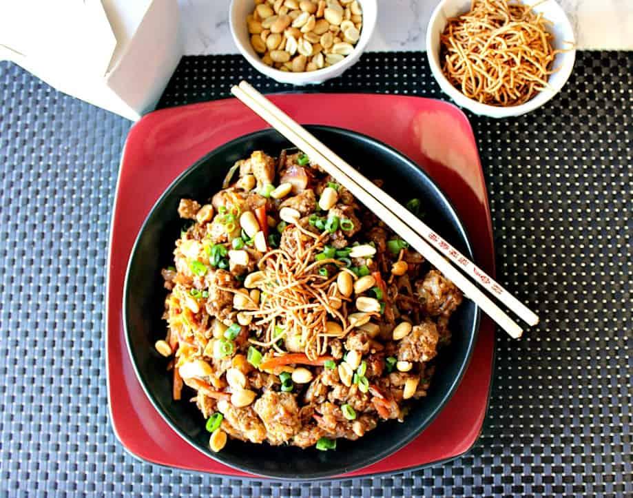 Tasty Chinese Ground Pork Egg Roll Bowl Kudos Kitchen Style | Kudos Kitchen by Renee