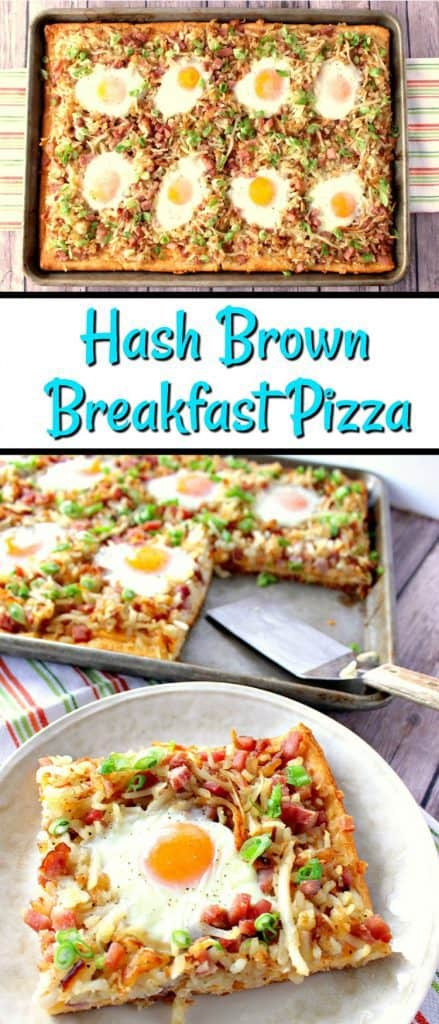 Sunny Side Up Hash Brown Breakfast Pizza - www.kudoskitchenbyrenee.com