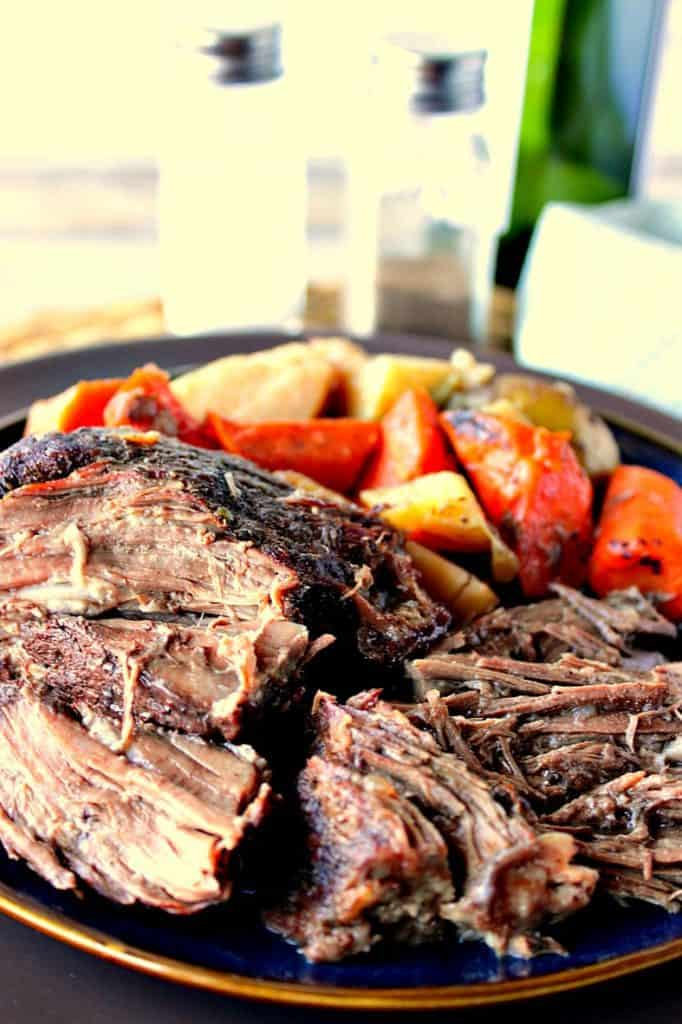 Best Ever Dutch Oven Braised Pot Roast Dinner with Potatoes & Carrots   Kudos Kitchen by Renee