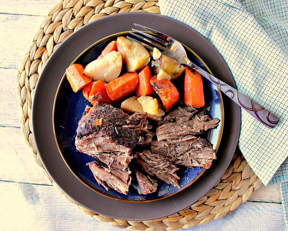 Best Ever Oven Braised Pot Roast with Potatoes & Carrots | Kudos Kitchen by Renee