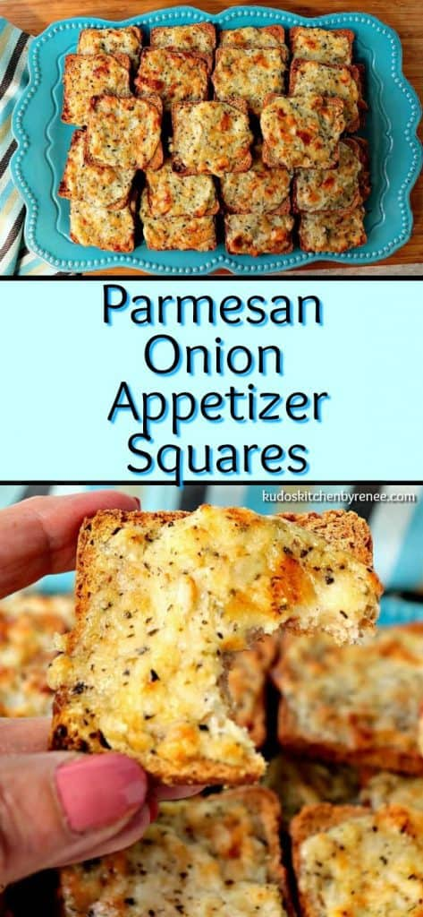 Whenever I serve these Parmesan Onion Appetizer Squares, they're always a hit! They have a light onion flavor, crispy yet creamy texture, and a tiny and unexpected touch of sweetness that everyone loves!