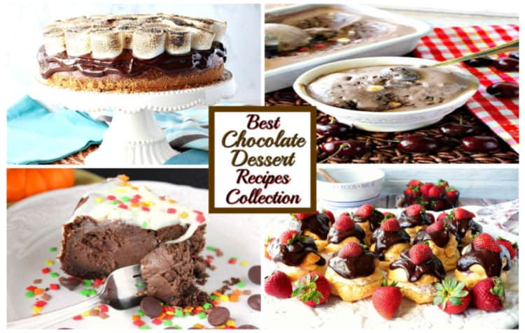 Best chocolate dessert recipes collection featured image collage