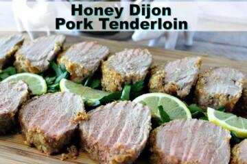 Honey Dijon Pork Tenderloin with Breadcrumbs & Lemon