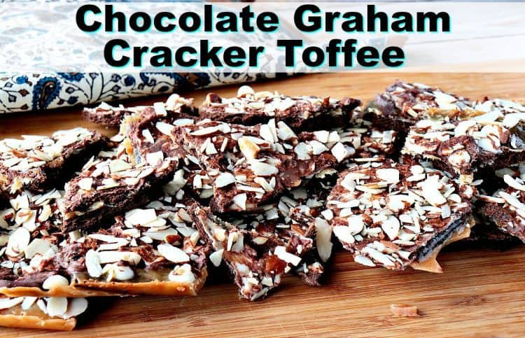 Double Chocolate Graham Cracker Toffee with Almonds