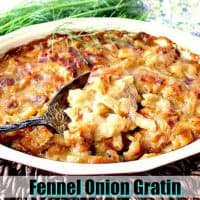 Deliciously Cheesy Baked Fennel Onion Gratin Recipe