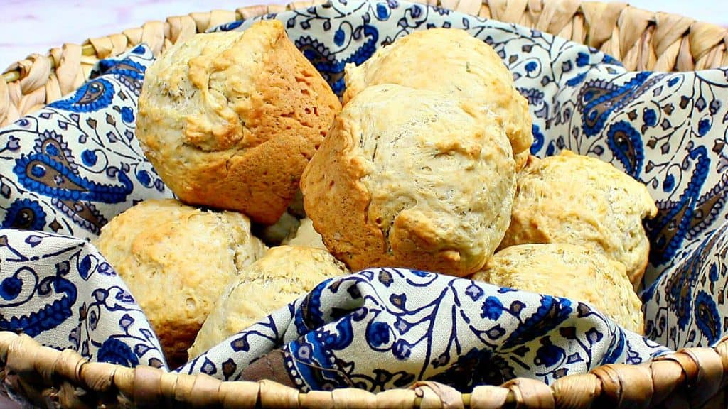 Fast & Easy Beer Bread Biscuits with Herbs - www.kudoskitchenbyrenee.com