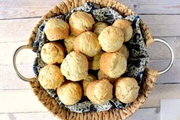 Fast & Easy One Bowl Beer Bread Biscuits with Herbs