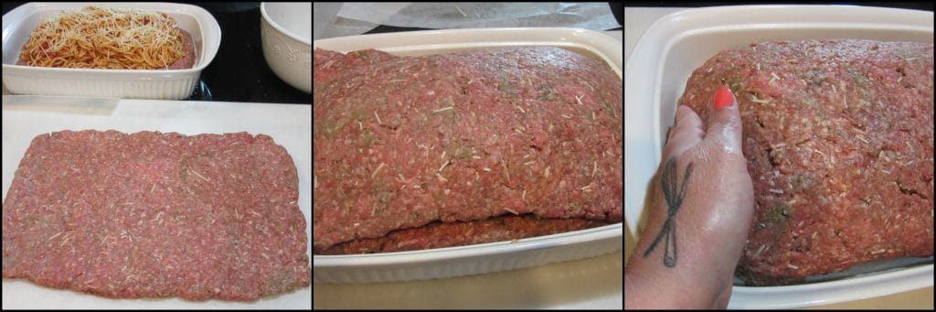 How to make Spaghetti Stuffed Meatloaf with a Melted Cheese Topping - www.kudoskitchenbyrenee.com