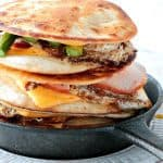 Canadian Bacon, Egg & Asparagus Breakfast Quesadillas - kudoskitchenbyrenee.com