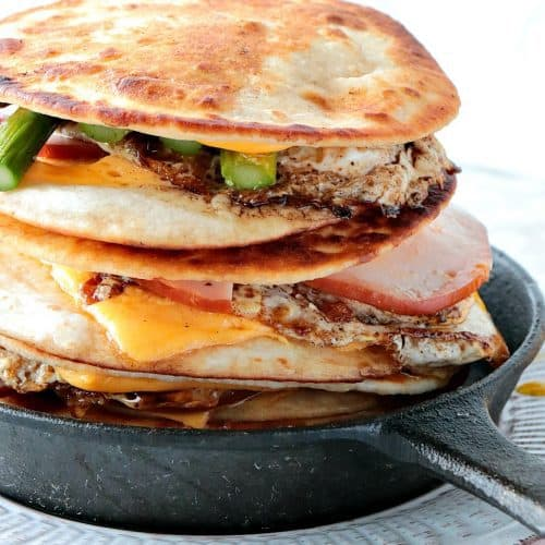 Canadian Bacon, Egg & Asparagus Breakfast Quesadillas - kudoskitchenbyrenee.com