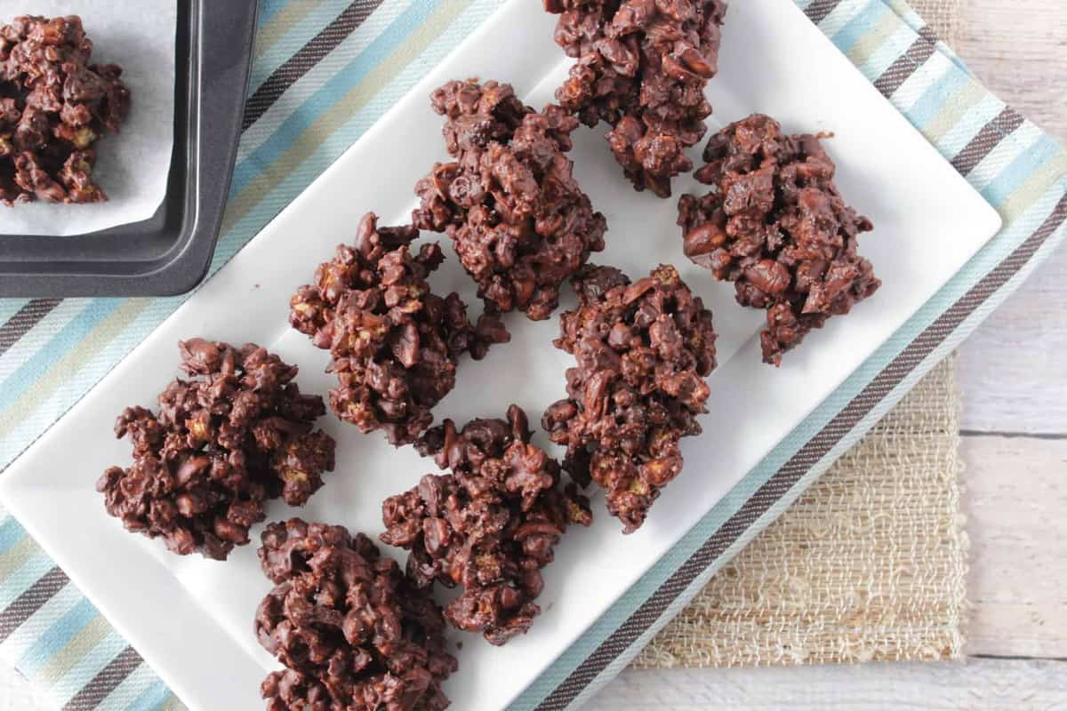 No Bake Peanut Butter & Chocolate Granola Jumbles Candy Recipe - Kudos Kitchen by Renee