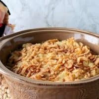 Authentic German Spaetzle Casserole with Cheese & Crispy Onions