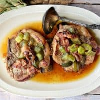 Fork-Tender Dill Pickle Pork Chops with Bacon & Onion Low Carb Recipe