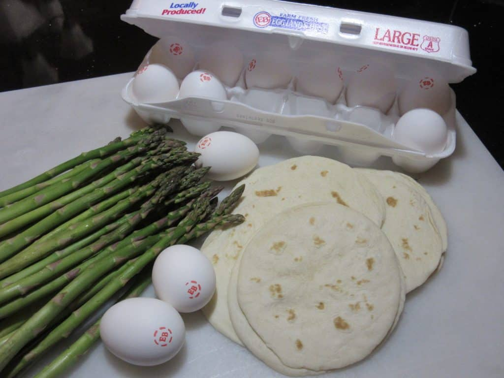 Eggland's Best Eggs and Michigan Asparagus prep shot for #BrunchWeek