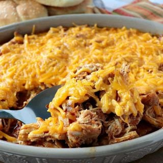 Low Carb Shredded Salsa Chicken can be eaten as is, or piled high on a bun for a sandwich. Talk about a versatile recipe the whole family will enjoy!! - kudoskitchenbyrenee.com