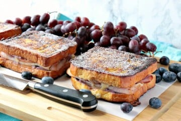 Sweet & Savory Monte Cristo Blueberry French Toast